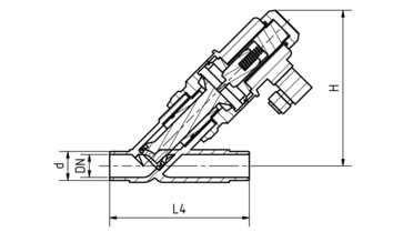 Drawing: Directly operated solenoid valves DN 15-50