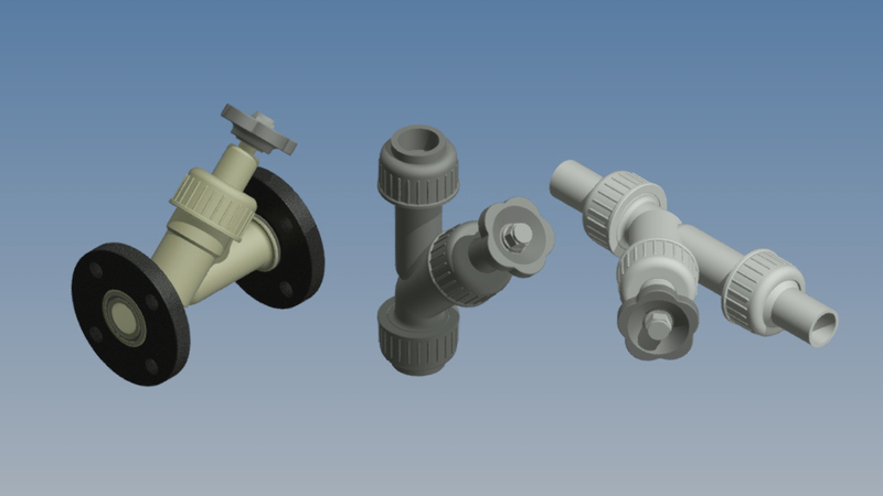 Manual shut-off valves DN 15 - 50 (Plastic)